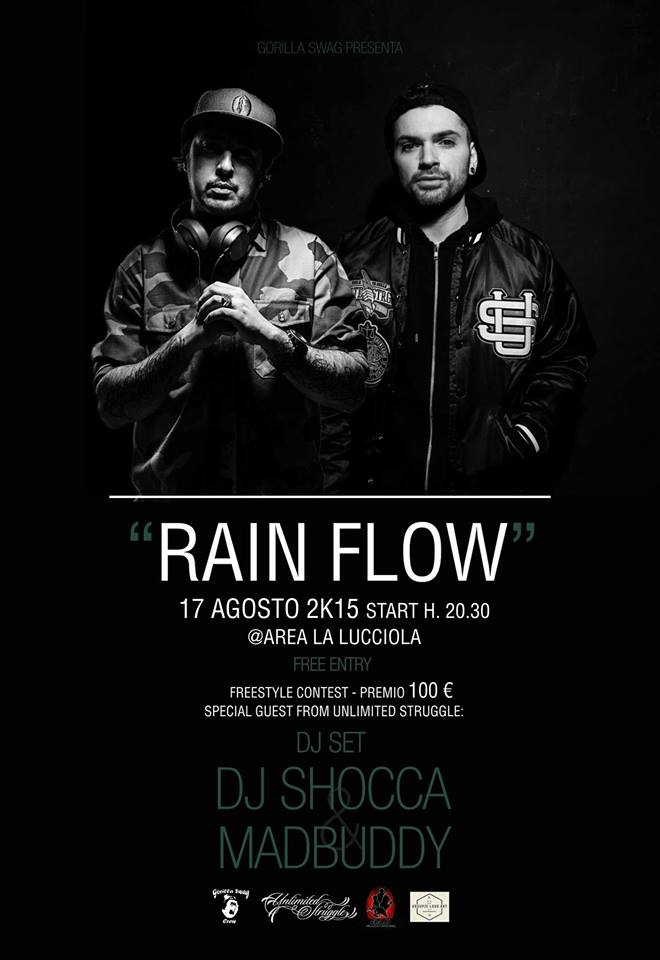 "RainFlow Battle + Shocca & MadBuddy @ Area feste ""La Lucciola""