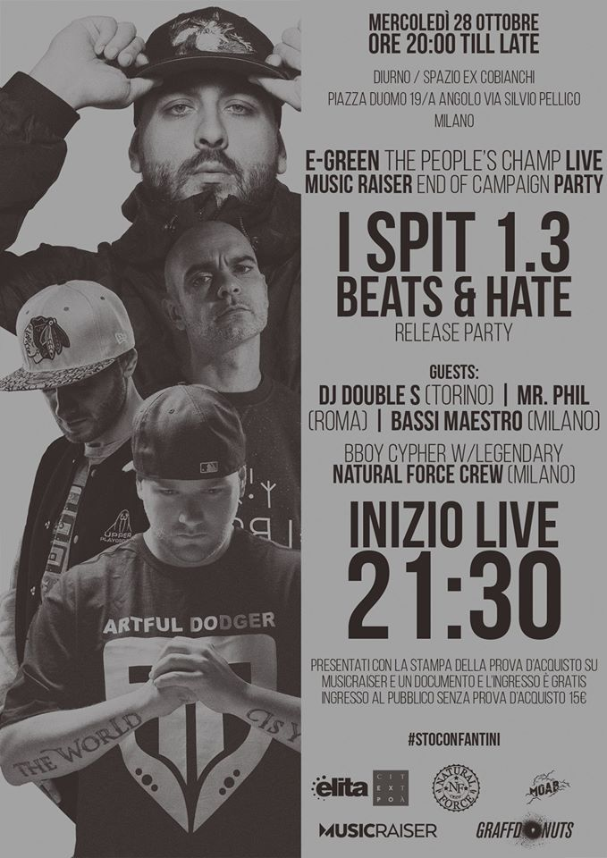 Beats & Hate / I Spit 1.3 RELEASE PARTY | Milano | 28 Ottobre 2015