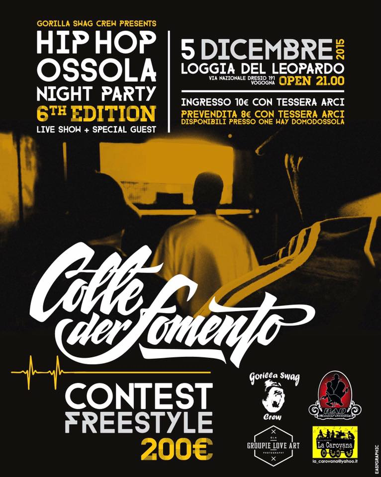Hip Hop Ossola Night Party Ed.6 | Vogogna