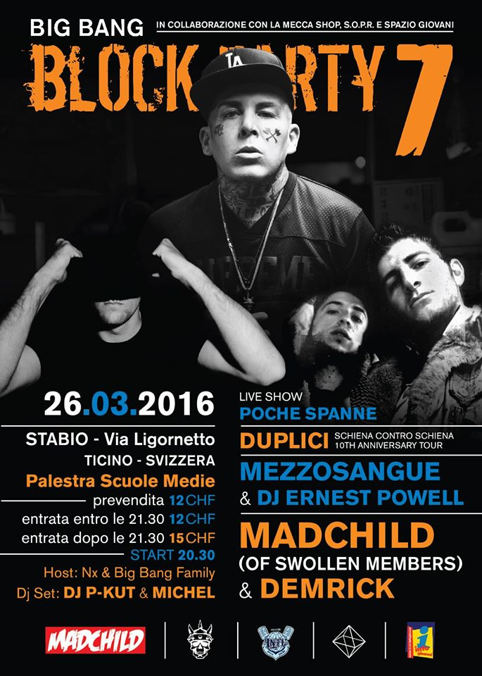 Big Bang Block Party 7 | Stabio (TI-CH) 26 Marzo 2016