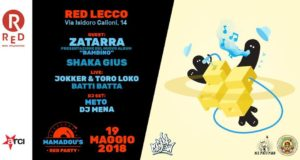 Mamadou's Red Party 10 | 19 Maggio 2018